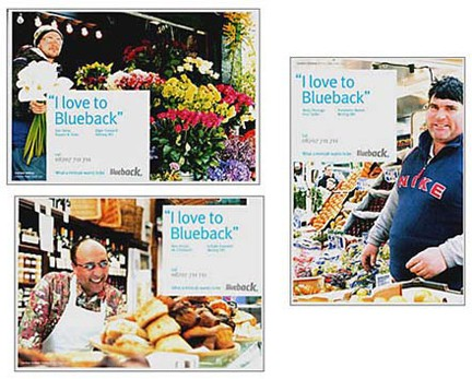 Postcards produced to promote Blueback Private Hire