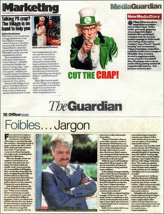 Coverage from the Anti-Jargon Campaign by Bill Hunt